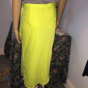 Forever 21 Skirts - Forever 21 Green Long Skirt Medium New with tags